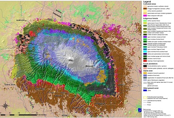 vegetation map of kilimanjaro